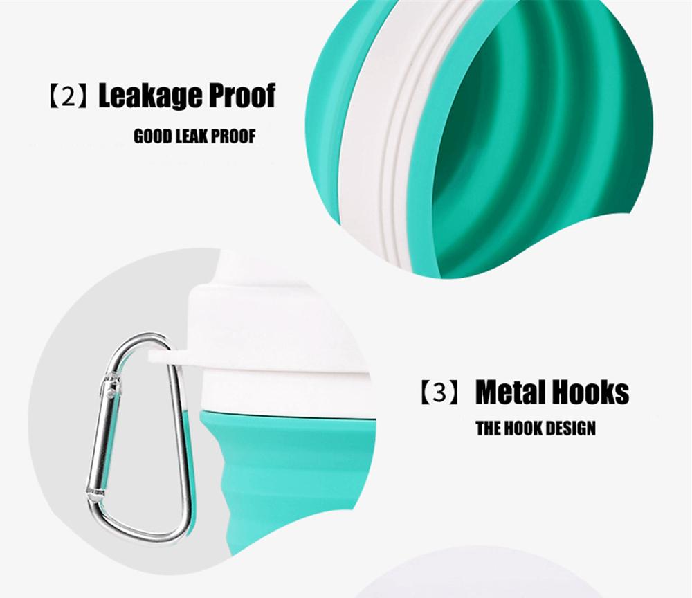 Vaso plegable de silicona reutilizable extensible para ir de viaje