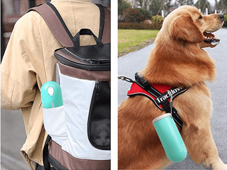 Botella dispensadora para viajar con mascota