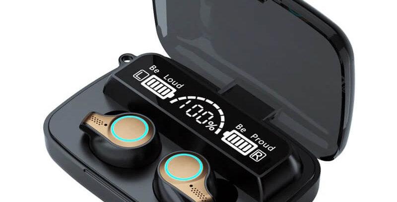 Auriculares Inalambricos Bluetooth Con Estuche Cargador De Moviles Parairdevacaciones.com