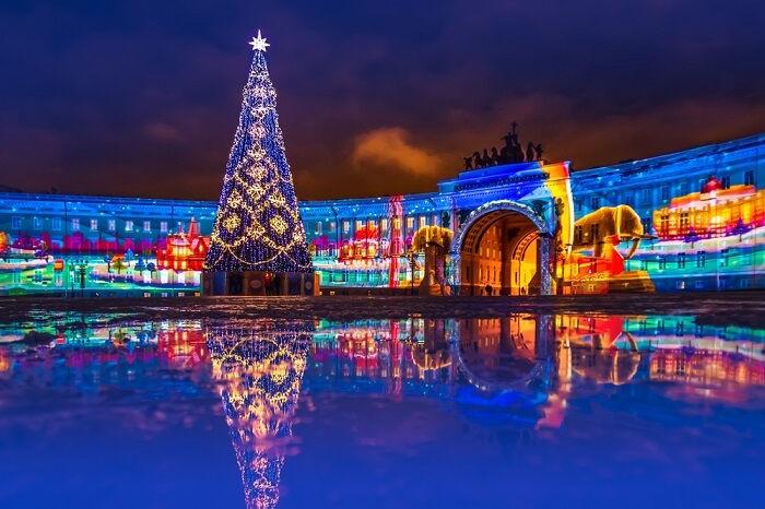Navidad en San Petersburgo, Rusia