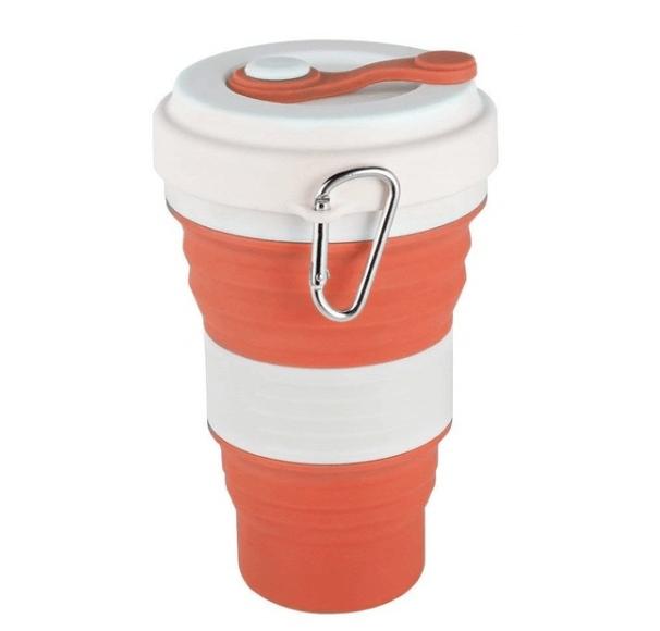 Vaso plegable de silicona reutilizable extensible para ir de vacaciones