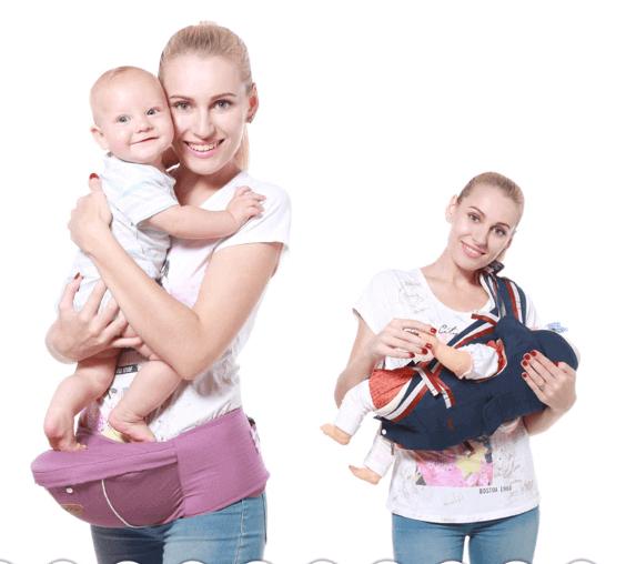 Mochila porta bebes ajustable para ir de vacaciones con niños