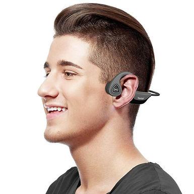 Auriculares inalámbricas conducción ósea fuera del oído reproductor de MP3