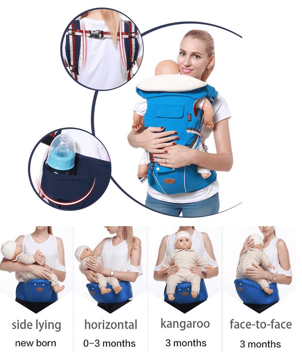 Mochila portabebes para viajar con niños