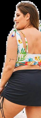 Falda cubre bikini para gorditas