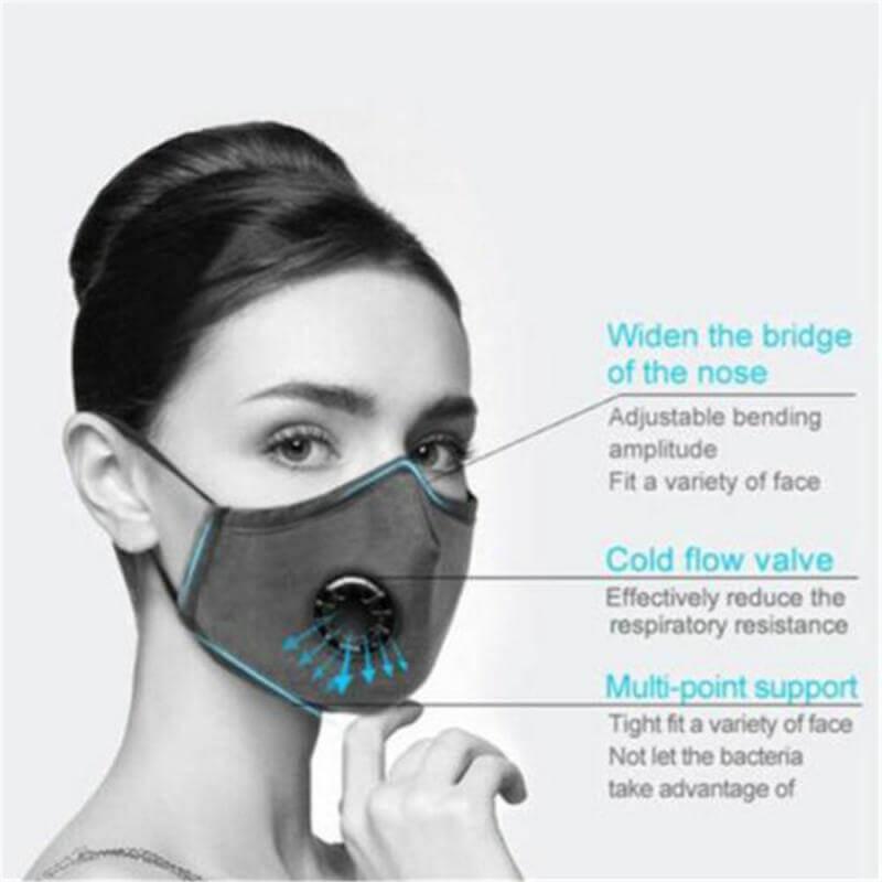 Mascarilla respiratoria antivirus N95 de algodón y filtros de sustitución