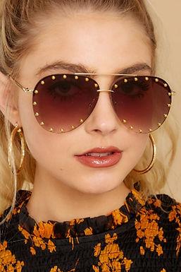 Gafas De Sol Polarizadas Tachonadas Elegantes Para Mujeres