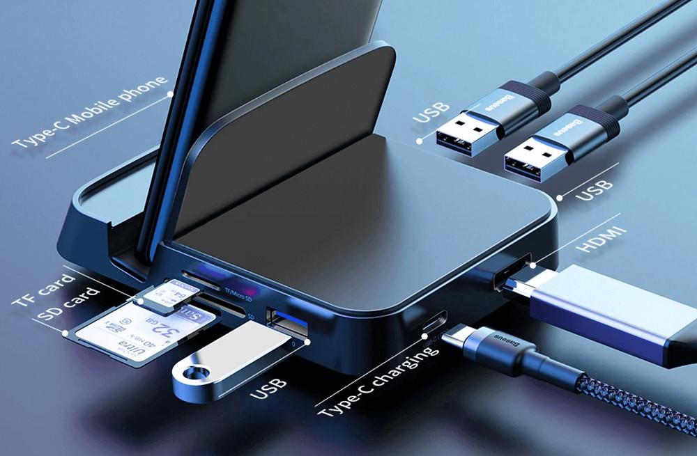 Base de conexion usb multiple para telefonos moviles