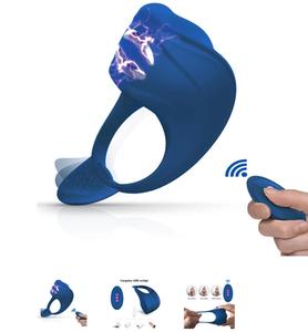 FIDECH Masajeador portátil con 7 niveles de frecuencia, resistente al agua con carga USB y control remoto