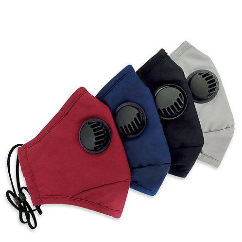 mascarillas lavablesreutilizables de tela tejida con filtros