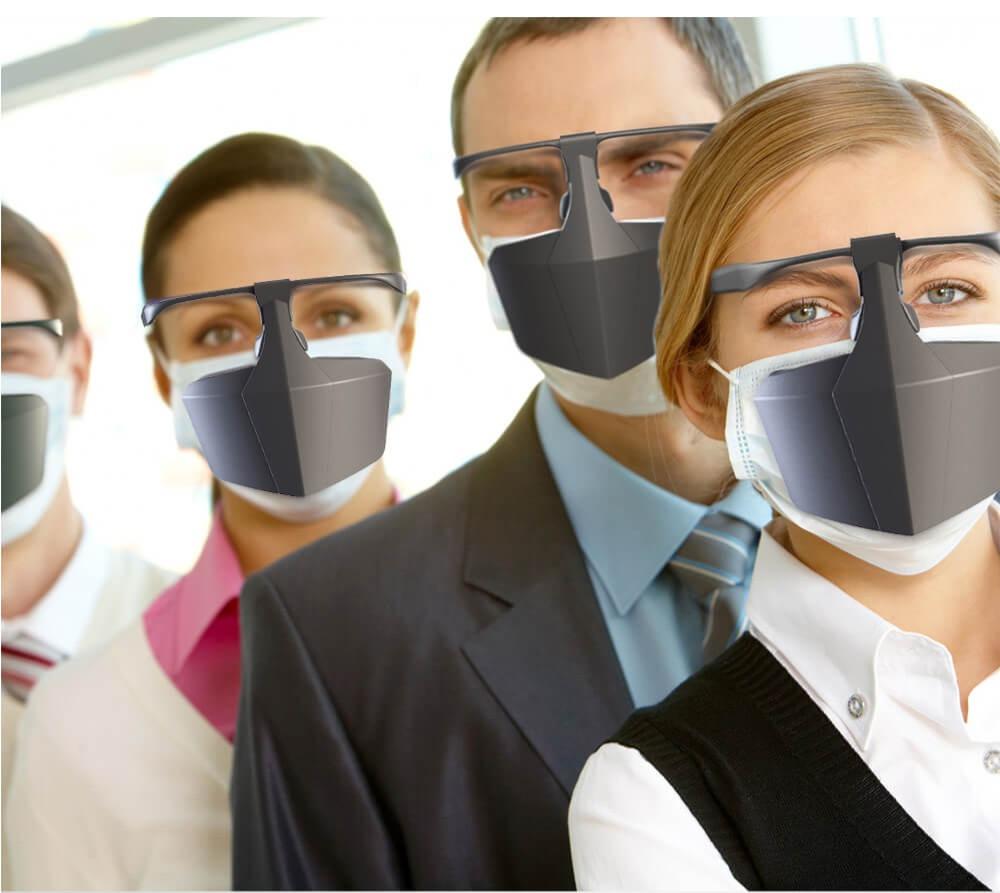 Mascara Protección Buco-Nasal reutilizable lavable