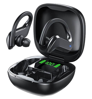 Auriculares bluetooth con gancho para la oreja con microfono control tactil