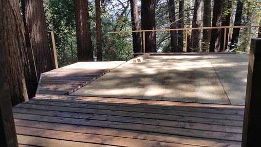heavy duty tree house deck