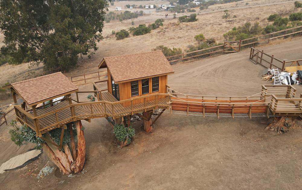 How do you make a treehouse?