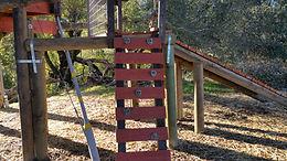 rock climbing wall treehouse