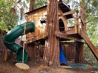 kids' wooden tree house kits
