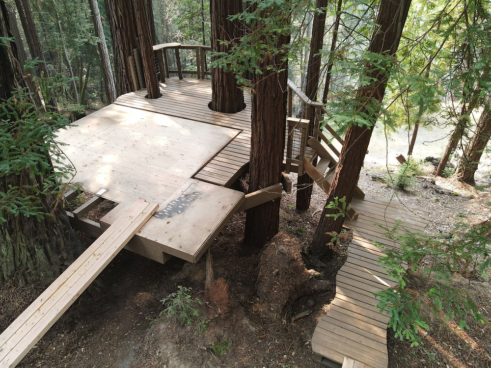 how to build treehouse platforms