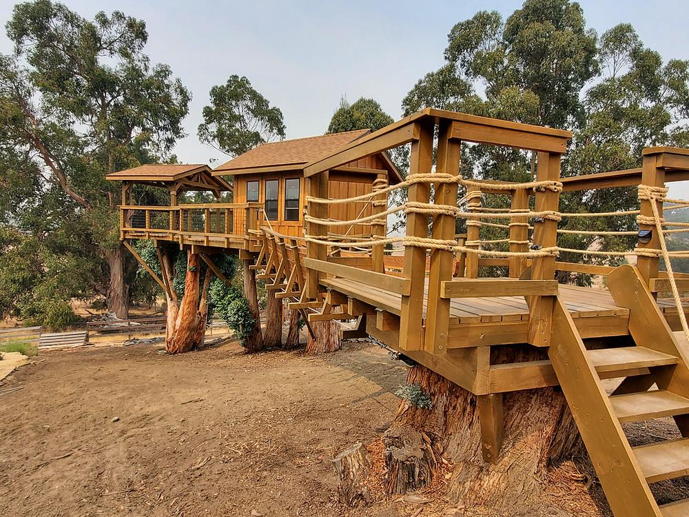treehouse suspension bridges