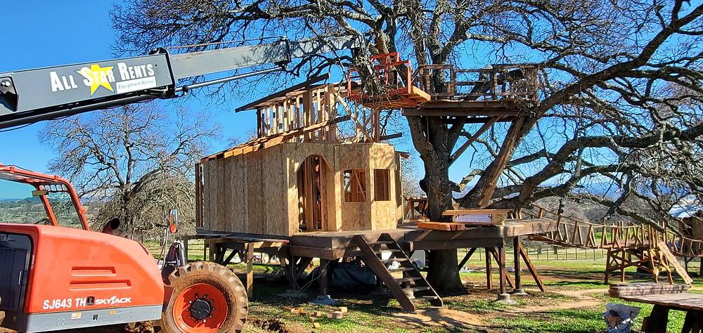 How do I build a treehouse?
