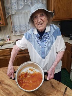 Caroline Sperle & her borscht soup