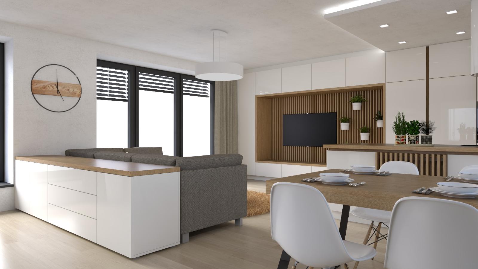Návrh interiéru novostavby Bítýška1