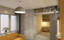 Návrh interiéru garsonky 2