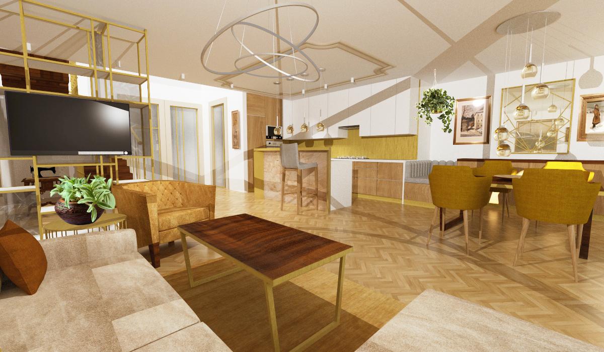 Návrh interiéru luxusní byt Praha 5