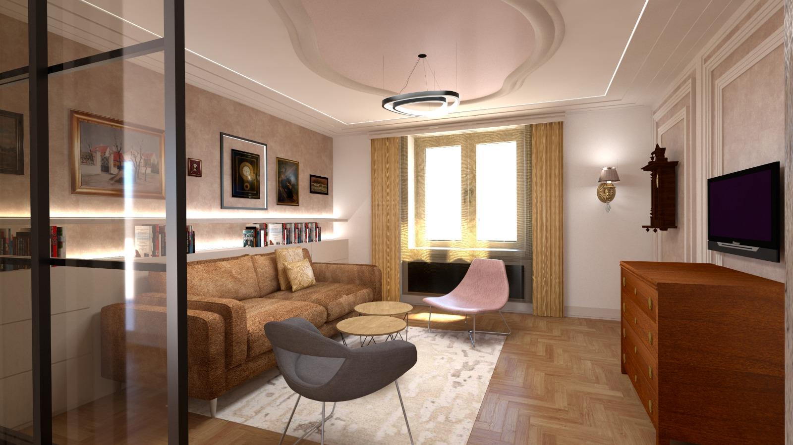 Návrh interiéru luxusního bytu v Praze5