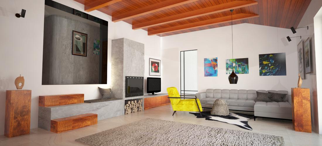 Moderní interiér Říčany 1