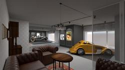 Návrh interiéru kanceláře sběratele aut 2