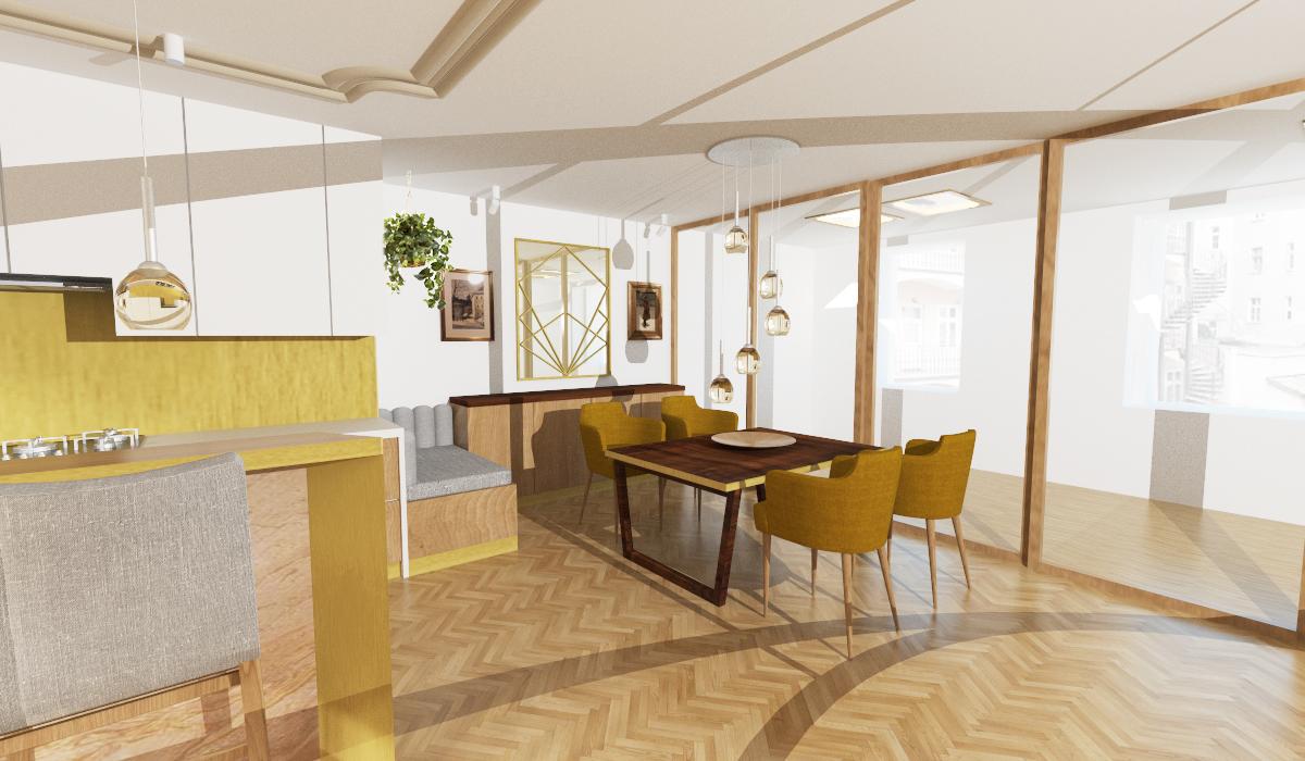 Návrh interiéru luxusní byt Praha 3