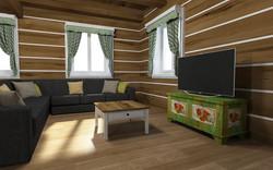 Návrh interiéru Roubenky Ostravsko
