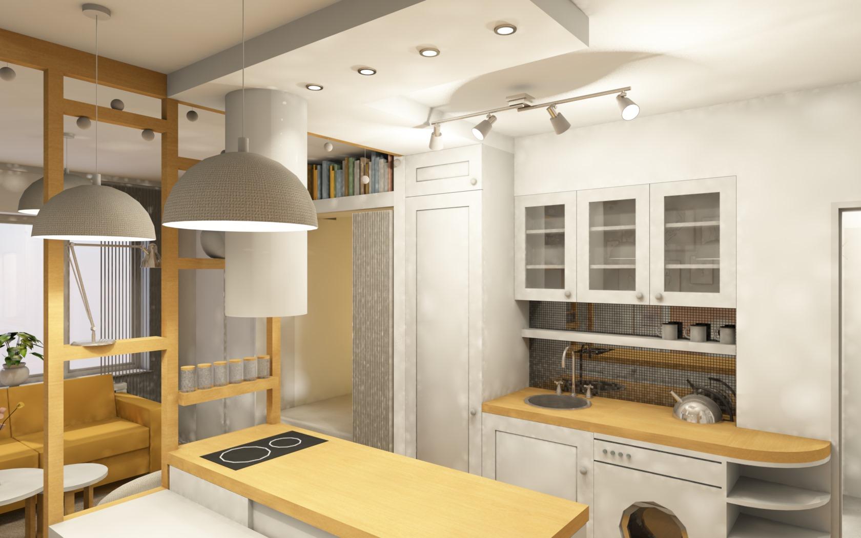 Návrh interiéru garsonky 4