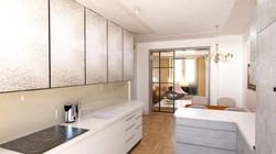 Návrh interiéru luxusního bytu v Praze2