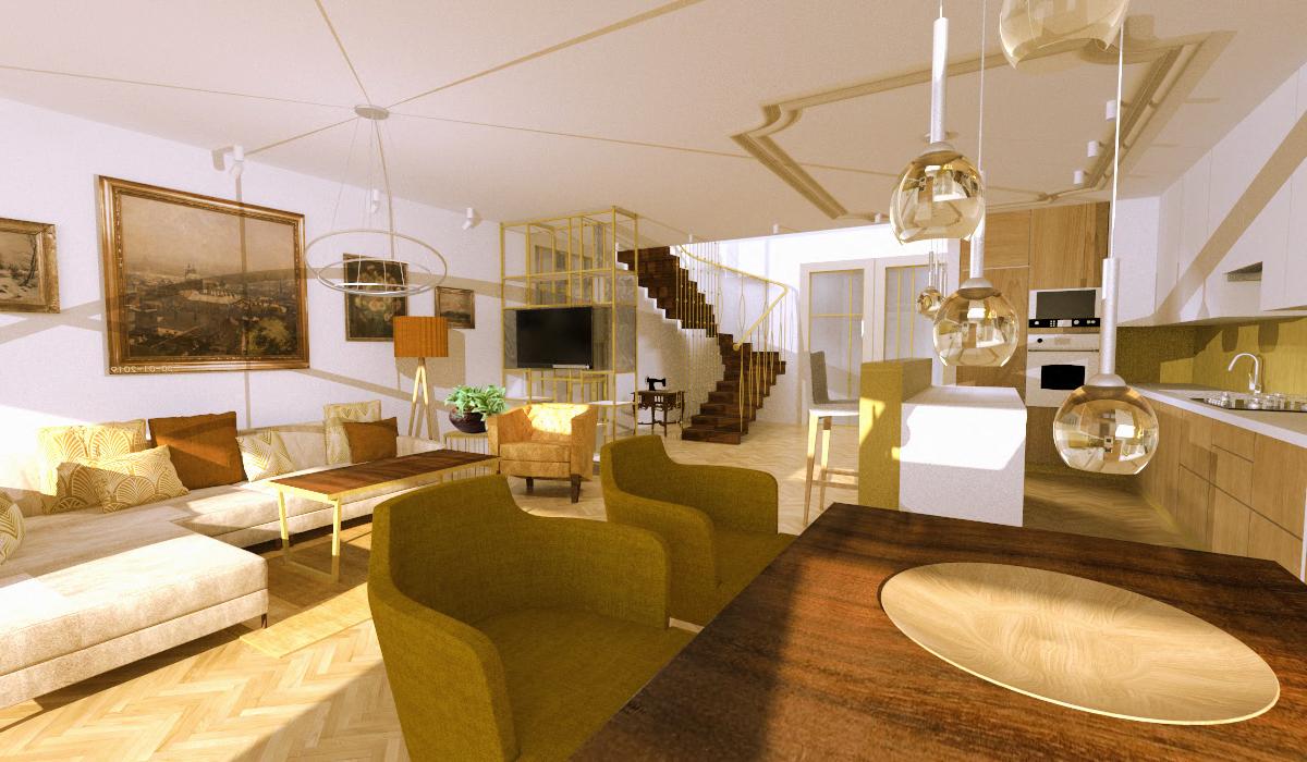 Návrh interiéru luxusní byt Praha 1