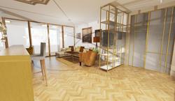 Návrh interiéru luxusní byt Praha 4