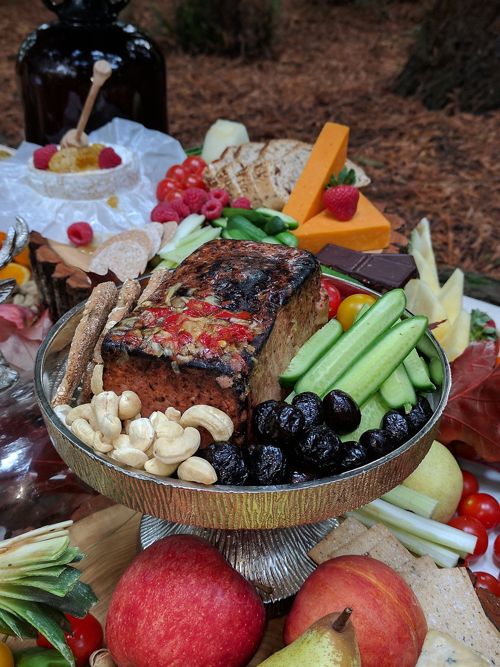 Grazing table Flame BBQ UK Woodland venue