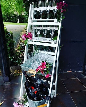 Flame BBQ welcome drinks display #prosec