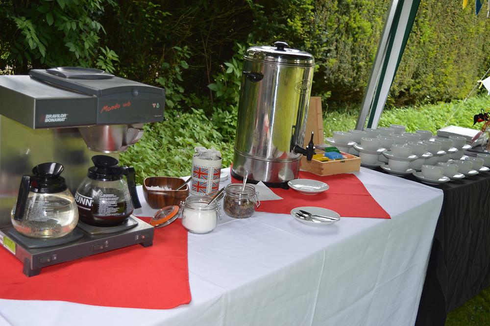 Flame BBQ Breakfast in the fields freshly brewed Tea & coffee