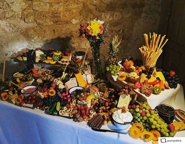 Grazing table as fresh catering style for your party