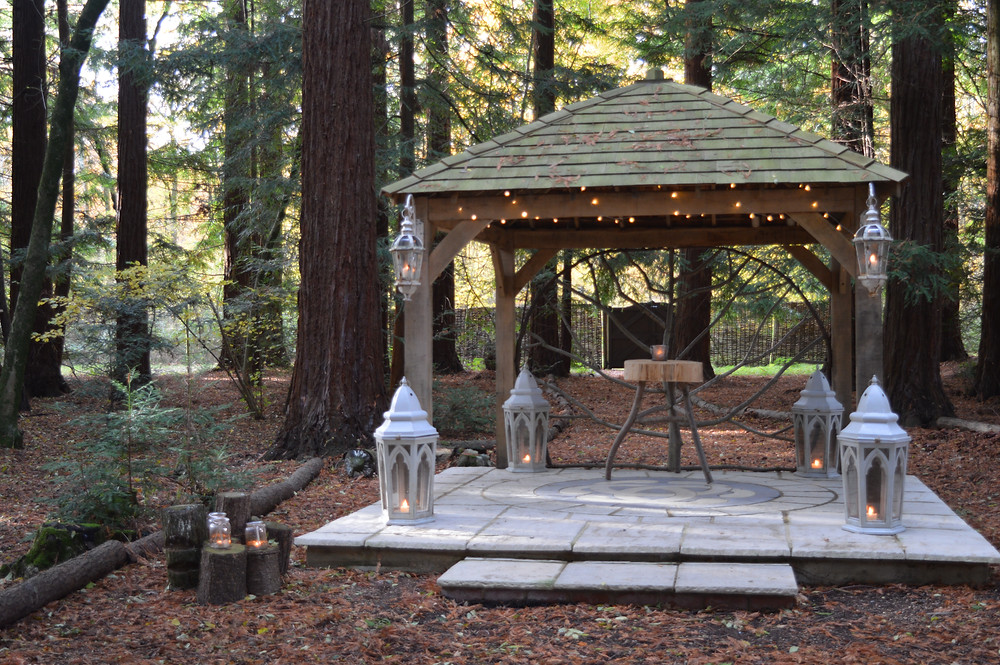 Flame BBQ Woodland wedding Ceremony at Two Woods estate
