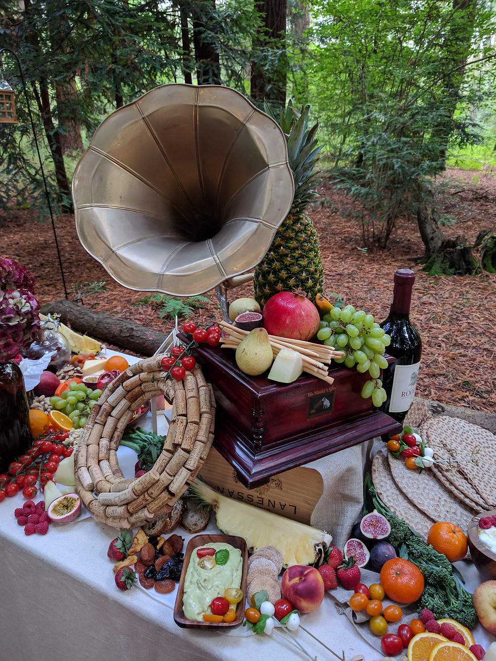 Grazing table Flame BBQ UK WOW factor at wedding reception