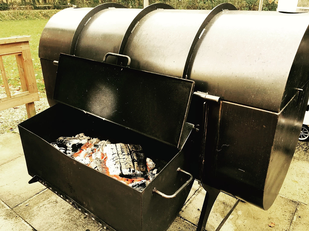 Flame BBQ Breakfast in the fields signature smoker