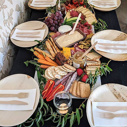 Grazing table runner full of goodies to enjoy your lunch