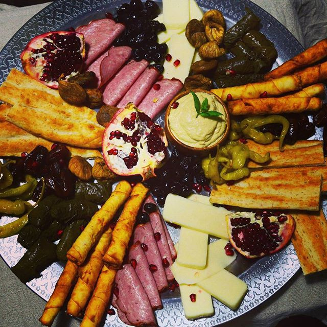 Sharing platter starter for corporate party