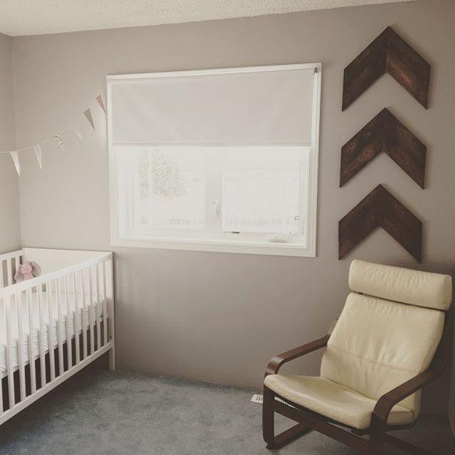 A few chevrons in a little nursery 😍