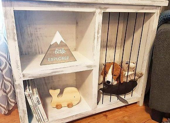 Toy shelf & Stuffy Jail