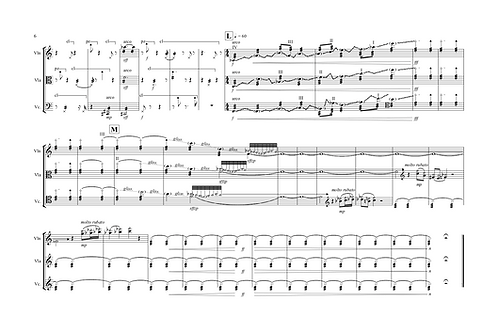 Writing on a manuscript (of JS Bach) (Print)