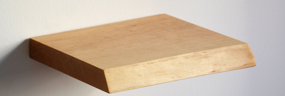 live edge floating shelf made of birch