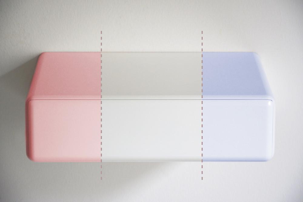 nightstand color, floating nightstand, custom-made bedside table, floating bedside table, bedroom color